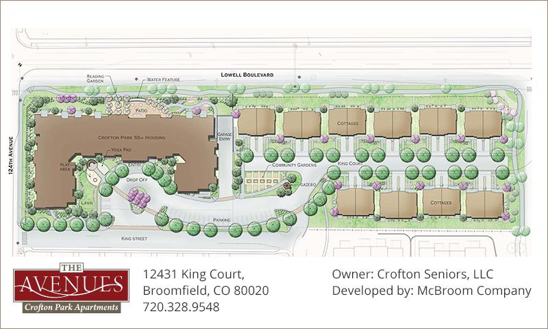 Broomfield, Colorado Senior Living Community Map